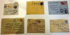 Kingdom of Italy and Republic of Italy - Over 200 envelopes and postcards sent to the Princes of Butera and Lanza of Trabia