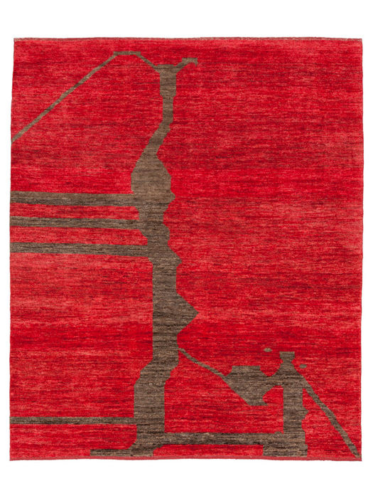 Hand-knotted Oriental rug - 20th century