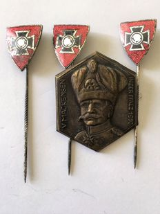 WW II Sheet metal badge von Mackensen in Palatine 1930 and 3 Reich veterans federation: