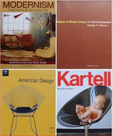 Lot with 4 Books on 20th Century Design - in (near) mint condition