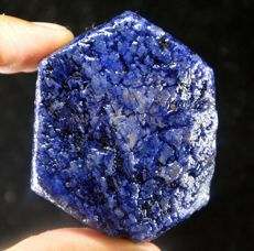 Big Natural Blue Sapphire Rough - 61 x 49 x 27 mm - 1022 carats