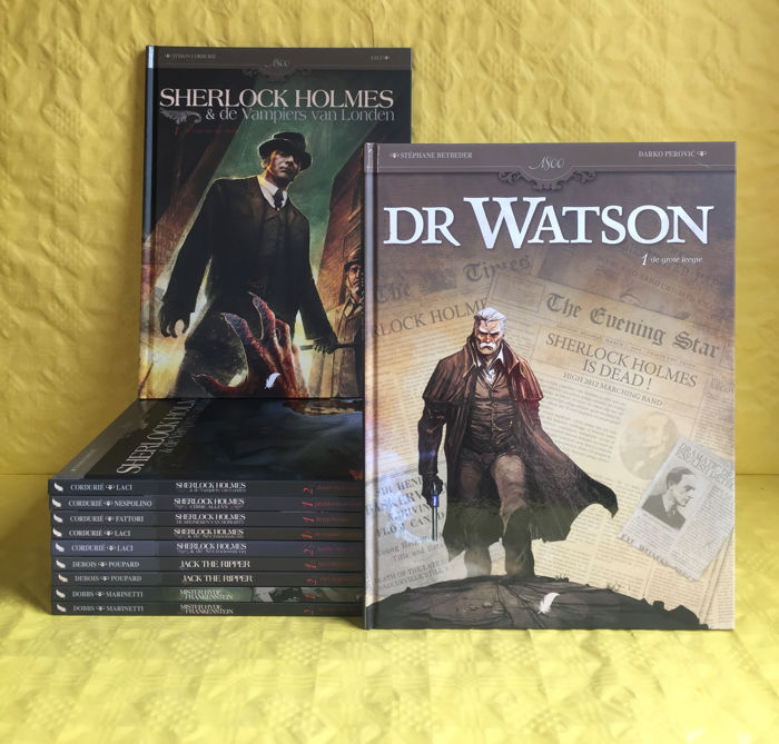 Used, 1800 series-Lot of 11 parts including Sherlock Holmes, Mister Hyde, Jack the ripper-hc-first for sale