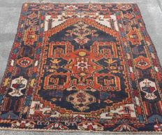 Beautiful Old Hand-knotted Persian rug-  163cm x 123 cm
