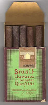 "39/45 - Militaria - box of 5 cigars ""Havana Brasil"" Box made only for the ""Reich"" Etiquette with the eagle and the cross"