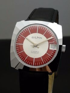Gilma  Red Twist - N.O.S  herenhorloge - swiss made  jaren 70