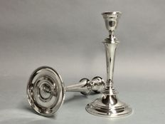 Set of identical silver plated candle stands, Gorham International Silver Company, U.S.A, ca. 1925