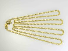 Gold 18k. Chain. Love. Length 50 cm. ***No reserve price***
