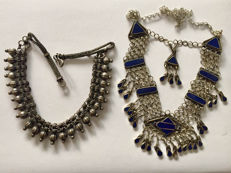 Lot of two ethnic vintage necklaces