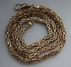 kings link necklace made from 14 kt gold, length: 44 cm
