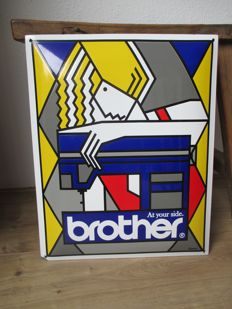Enamel advertising sign Brother - 2nd half of 20th century
