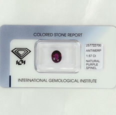 Purple spinell – 1.57 ct