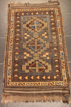 Antique hand-knotted Persian collector's carpet, Baloch, rug, made in Iran, 70 x 110 cm