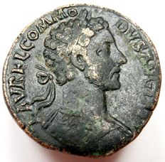 Roman Empire - AE Sestertius of Emperor Commodus (177-192 AD.)