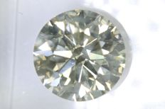 Round Brilliant cut diamond of 2.50 ct Very Light Brown SI2 NO RESERVE PRICE