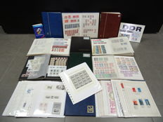 GDR of East Germany - Batch of ten stock books + catalogue