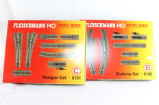 Fleischmann H0 - 6190/6191 - Profi Rails Station Set B and Shunting Set C
