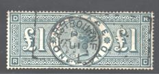 Great Britain - 1891 - £1 - Stanley Gibbons 212