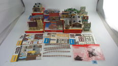 Hornby/SuperQuick 00 - including R8085/R278/R8004 A Scenery package with completed buildings and houses and cardboard models