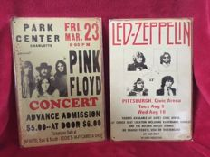 Pink Floyd and Led Zeppelin Retro Concert Poster Tin Plaques