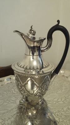 c 1860/1893 water jug epbm silver plated made in england.