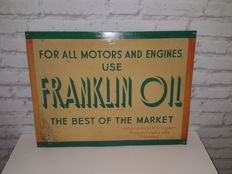FRANKLIN OIL - Advertising signs - 1948 - 100% pure Pennsylvania oils