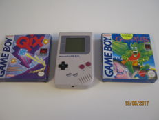 Original Nintendo classic gameboy - like new - Incl 2 nice games. QIX with box, An the second one is complete