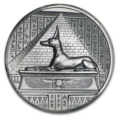 USA - 2 oz 999 silver - fine silver coin - Anubis Master of the Underworld - ultra high relief - 3D effect