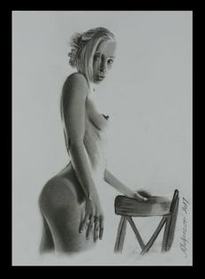 Pin-up art;  Nebojsa Umljenovic - Skinny Beauty  - 2017