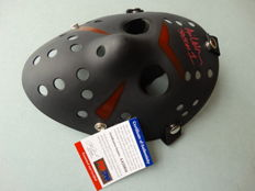 """Friday the 13th - Jason Voorhees signed mask - signed by Jason Voorhees actor Ari Lehman from part 1 with extra inscription """"Jason 1!"""""""