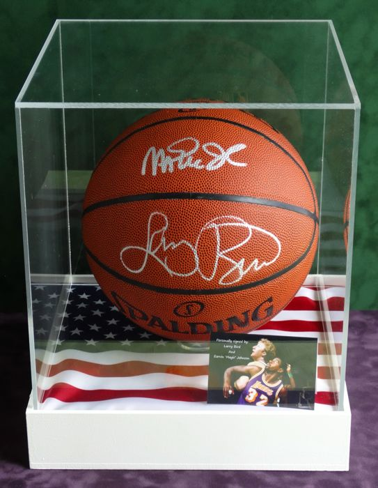 newest collection d835a de28a Magic Johnson AND Larry Bird full size double autographed ...