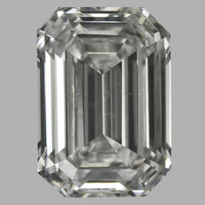 0.90 ct Emerald Cut Brilliant Diamond I SI1  IGI -Original Image-10X - Serial# 1877