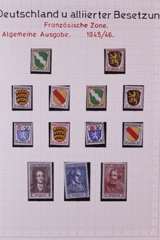 Federal Republic of Germany and allied occupation 19456/1960 - Collection on blanco sheets