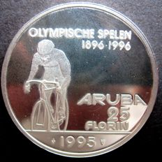 Aruba – 25 Florin 1995 (variant without Olympic rings) – silver