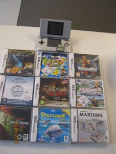 Nintendo DS Phat  incl 10 DS games like Pokemon and more