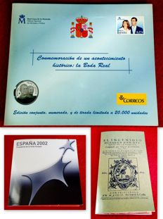 Spain - 3 original FNMT coin portfolios.   €12 + €12 + €12 coins in silver and €2 commemorative coins - With certification.