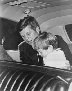Unknown/UAT International - President John Fitzgerald Kennedy and son -  1962