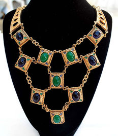 D'ORLAN Egyptian style vintage necklace New York 1960/1965