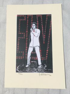 2 rare litographies , Elvis Presley by Jeff Kassman Art Hall of Fame 1999 and 2002