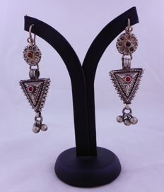 Antique silver earrings from the early 1900s – Afghanistan