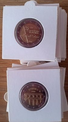 Europe – commemorative 2 Euro coins 2006/2016 (25 different ones)