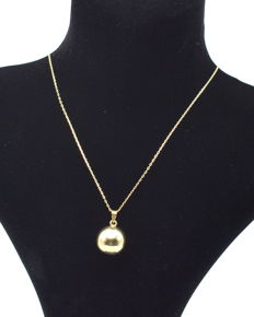 14 carat chain with bowl pendant - chain length : 46 cm