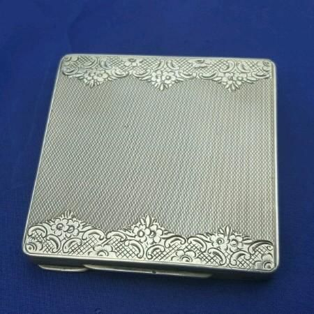 Silver powder box, Franz Scheurle, Germany