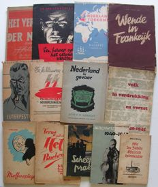 WW II; Lot with 13 different publications