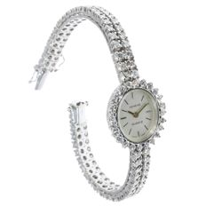 Geneve white gold diamond ladies' cocktail wrist watch with 120(!) diamonds - anno 1960
