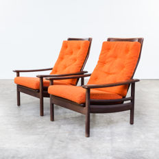 Designer unknown - set of two vintage armchairs