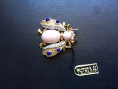 Signed Trifari 1950 A. Philippe Brooch 3 x 3 cm – 9 g