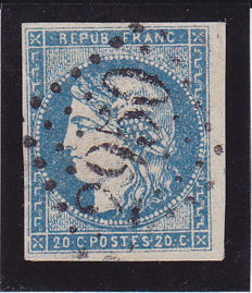 "France 1870 – ""Bordeaux"" – Yvert no. 44A"