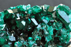 High quality Dioptase crystals on matrix - 6,5 x 3,8 x 2,8cm - 74gr