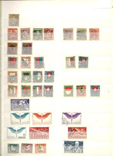 Switzerland and Austria – Collection on sheets