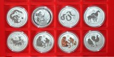 Australia – 50 cents 2012/2017 (8 coins) – ½ oz of silver